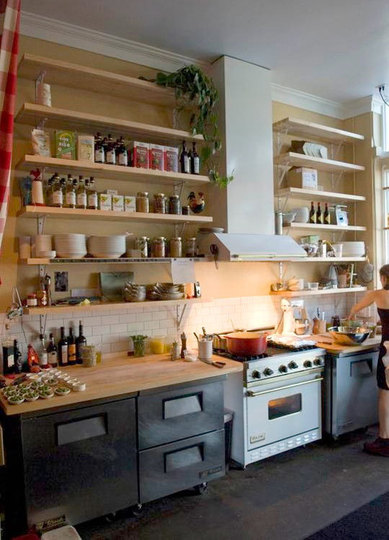 Open kitchen shelves cabinets truffles magazine for Open shelves in kitchen ideas