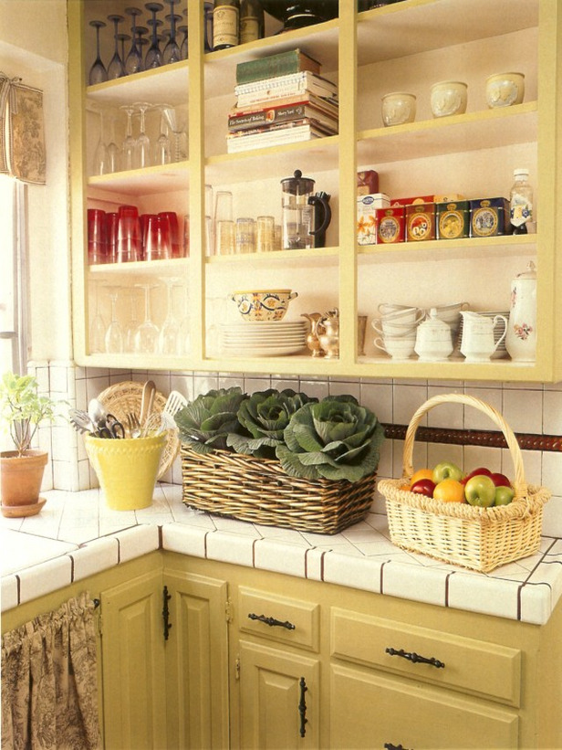 Open Kitchen Shelves Cabinets